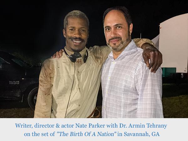 Nate Parker and Dr. Armin Tehrany
