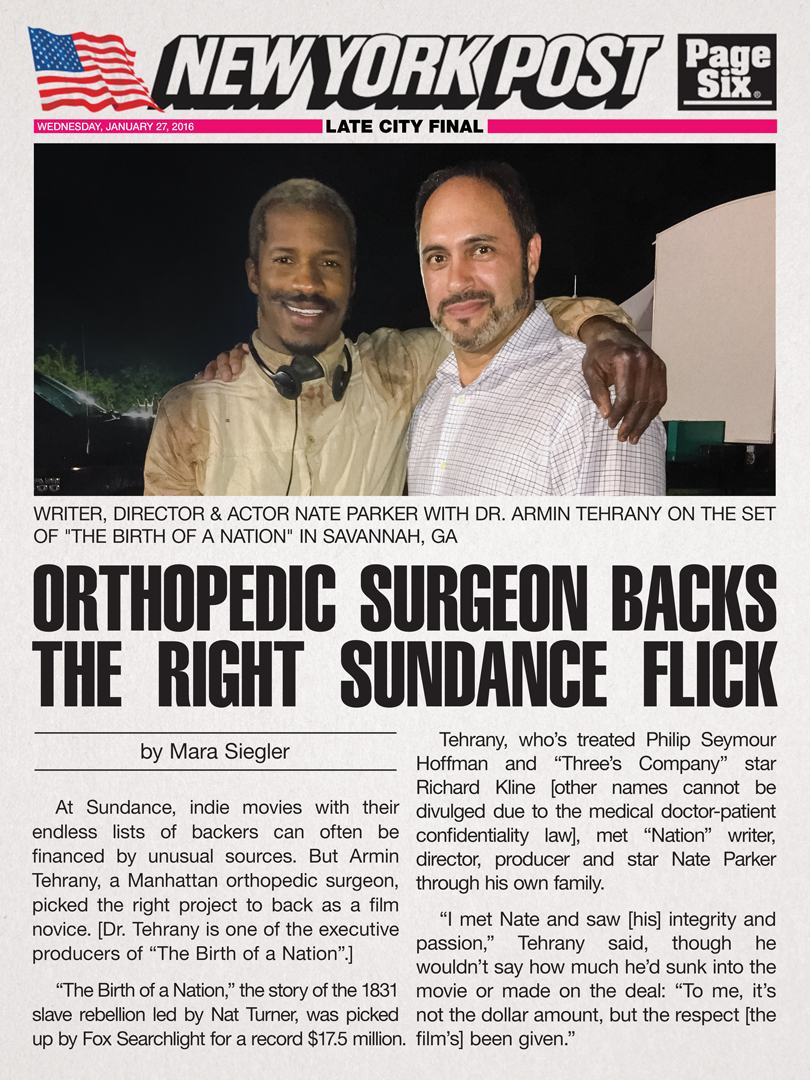Dr. Armin Tehrany and Nate Parker
