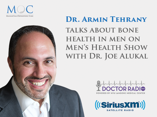 Dr  Tehrany on Doctor Radio talking about bone health