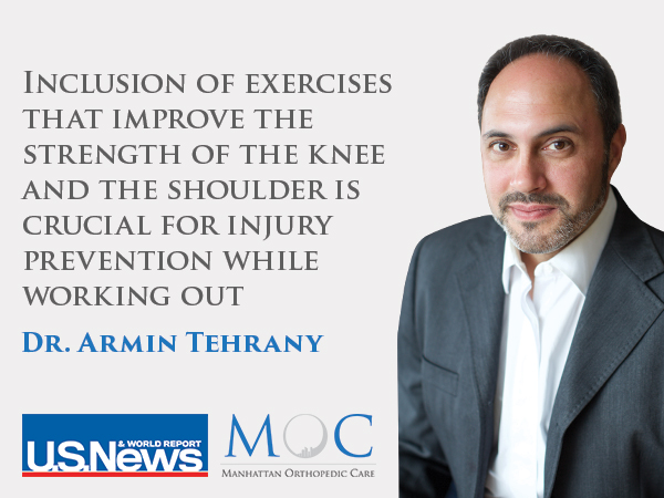 knee and shoulder injuries while working out