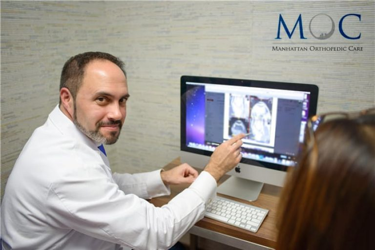 Dr. Armin Tehrany during an MRI Review