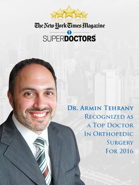 Meet Dr  Armin Tehrany | Best Orthopedic Doctor NYC